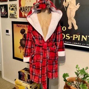 Peaches & Dreams Christmas Reindeer Hooded Robe